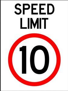 10 kilometre sign